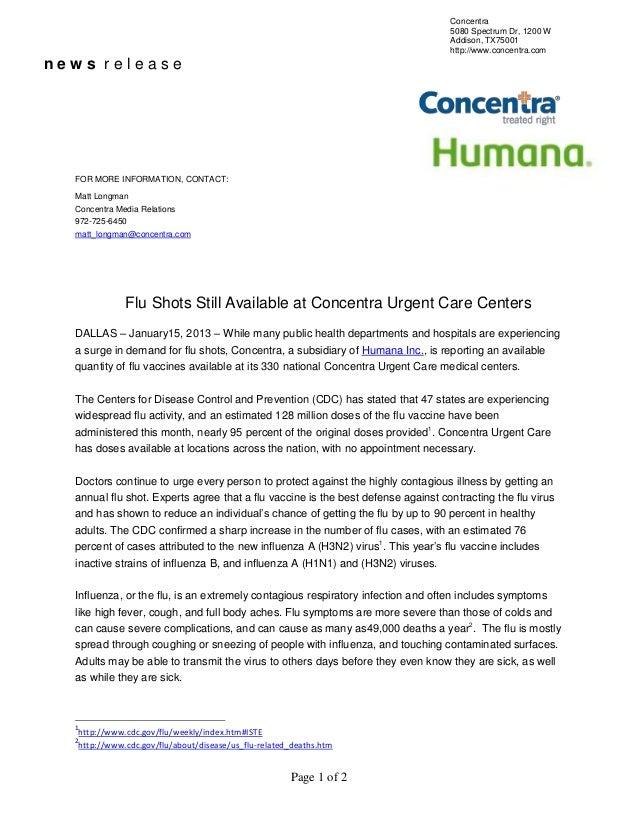 flu shot still plentiful at concentra locations nationwide