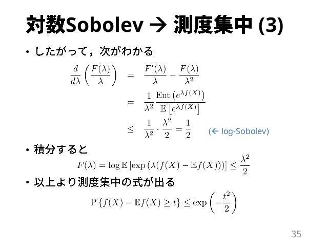 Sobolev  (3) • • • 35 ( log-Sobolev)