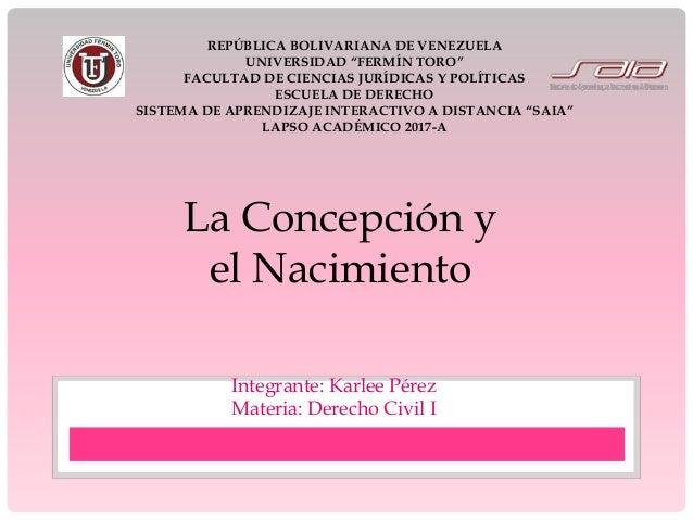 Concepción y registro civil