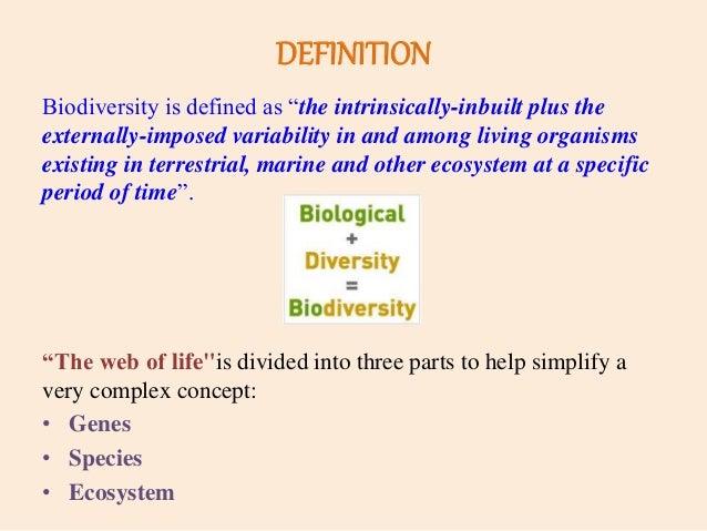 defining biodiversity among organisms essay