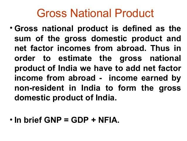 Gnp Formula