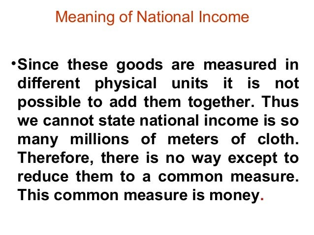 Concept and method national income in india 5