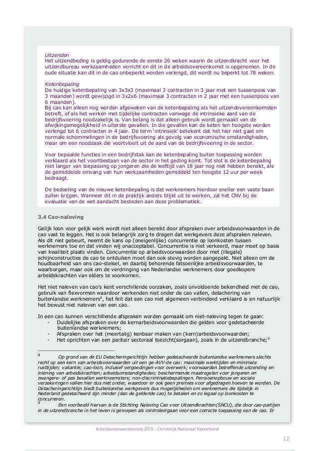 arboned plan van aanpak Concept Arbeidsvoorwaardennota 2015 CNV arboned plan van aanpak