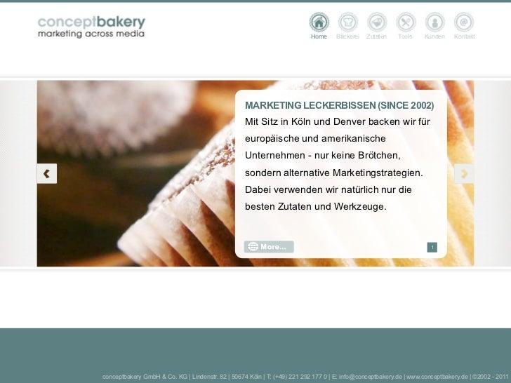 Home     Bäckerei   Zutaten    Tools    Kunden     Kontakt                                                   MARKETING LEC...
