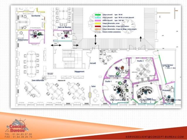 concept bureau plaquette space planning et mobilier de bureau design. Black Bedroom Furniture Sets. Home Design Ideas