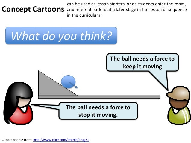 Clipart people from: http://www.clker.com/search/krug/1The ball needs a force tostop it moving.The ball needs a force toke...