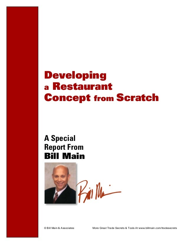 developing concept of the restaurant essay Concept development is a set of activities that are carried out early in the systems engineering develop alternative concepts to meet the technical papers.