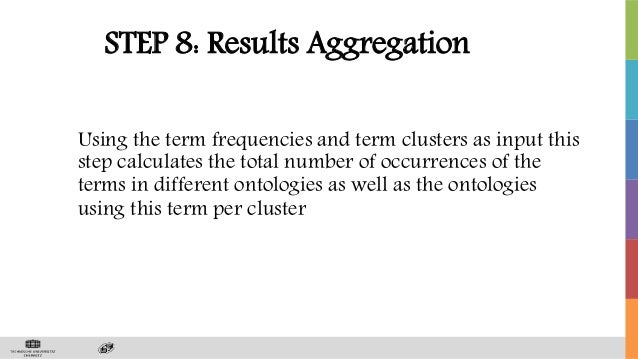 STEP 8: Results Aggregation Using the term frequencies and term clusters as input this step calculates the total number of...