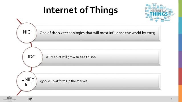 One of the six technologies that will most influence the world by 2025 IoT market will grow to $7.1 trillion >300 IoT plat...