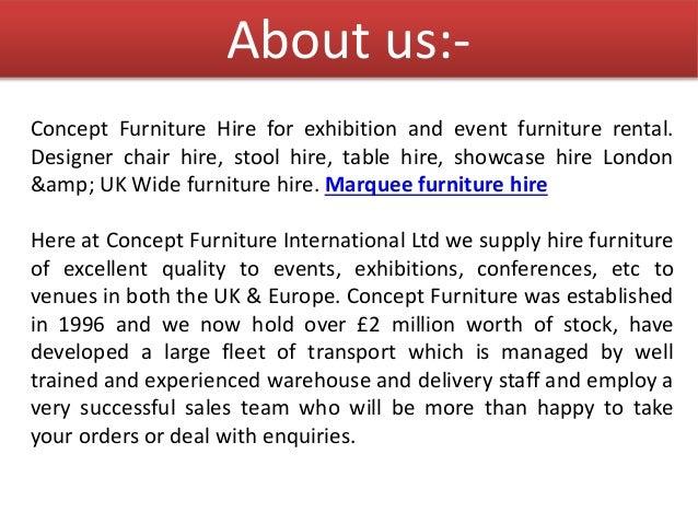concept furniture marquee furniture hire