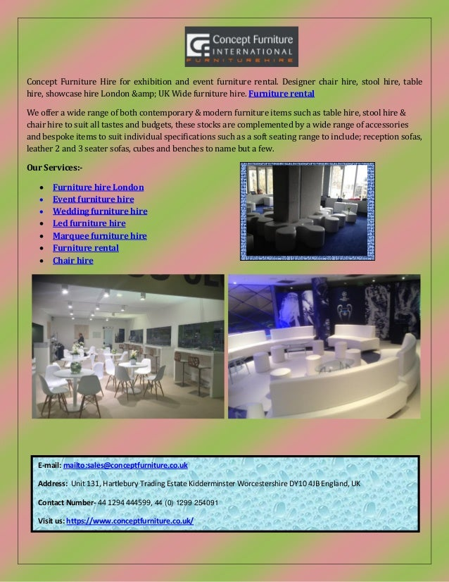 concept furniture hire exhibition and event furniture hire london
