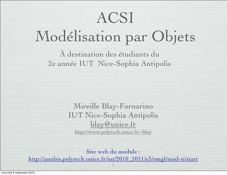 Modélisation par Objets - Introduction - De Merise à UML