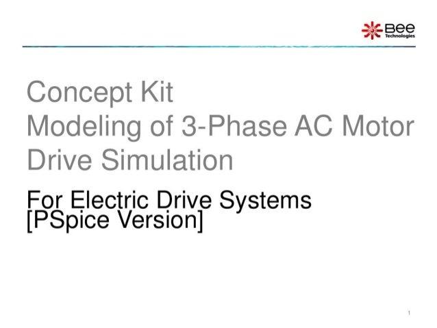 Concept kit: 3-Phase AC Motor Drive Simulation (PSpice