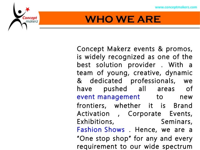 Event Management Company Profile – Business Profiles Samples
