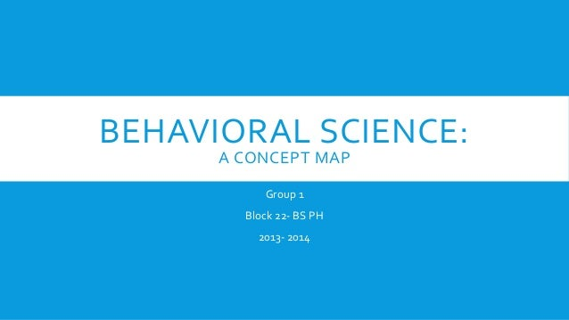 BEHAVIORAL SCIENCE: A CONCEPT MAP Group 1 Block 22- BS PH 2013- 2014