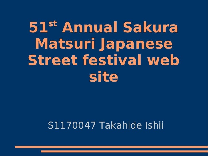 st51 Annual Sakura Matsuri JapaneseStreet festival web        site  S1170047 Takahide Ishii