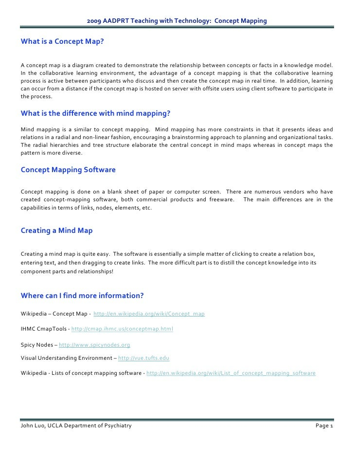 2009AADPRTTeachingwithTechnology:ConceptMapping  WhatisaConceptMap?   Aconceptmapisadiagramcreatedt...
