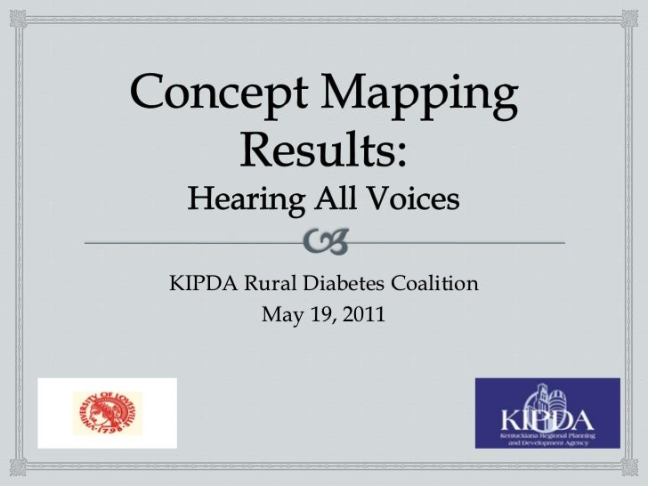 Concept Mapping Results:Hearing All Voices <br />KIPDA Rural Diabetes Coalition<br />May 19, 2011 <br />