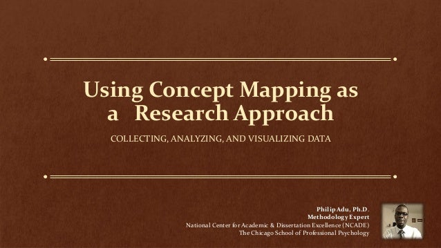 Using Concept Mapping as a Research Approach COLLECTING, ANALYZING, AND VISUALIZING DATA Philip Adu, Ph.D. Methodology Exp...