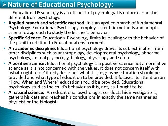 Concept Amp Meaning Of Educational Psychology