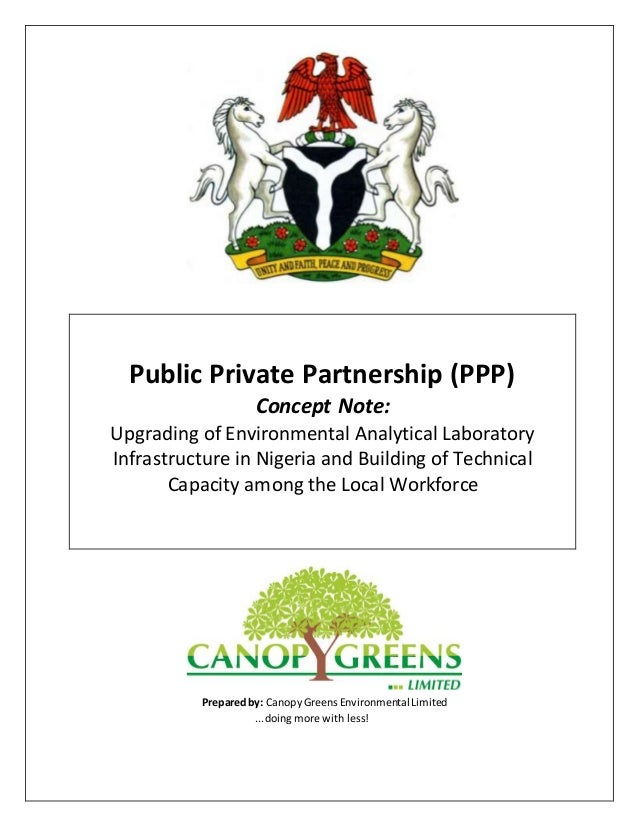 Public Private Partnership (PPP) Concept Note: Upgrading of Environmental Analytical Laboratory Infrastructure in Nigeria ...