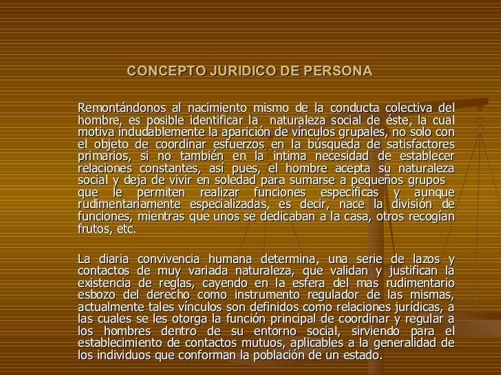 caaa5505b4f1 Concepto Juridico De Persona