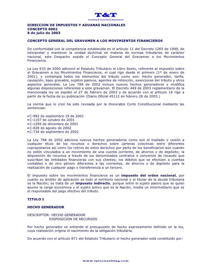 T&T                                      Coaching & Consultoría Empresarial  DIRECCION DE IMPUESTOS Y ADUANAS NACIONALES C...