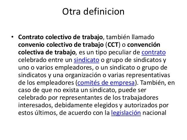 Concepto De Contrato Colectivo De Trabajo Expocicion De Derecho