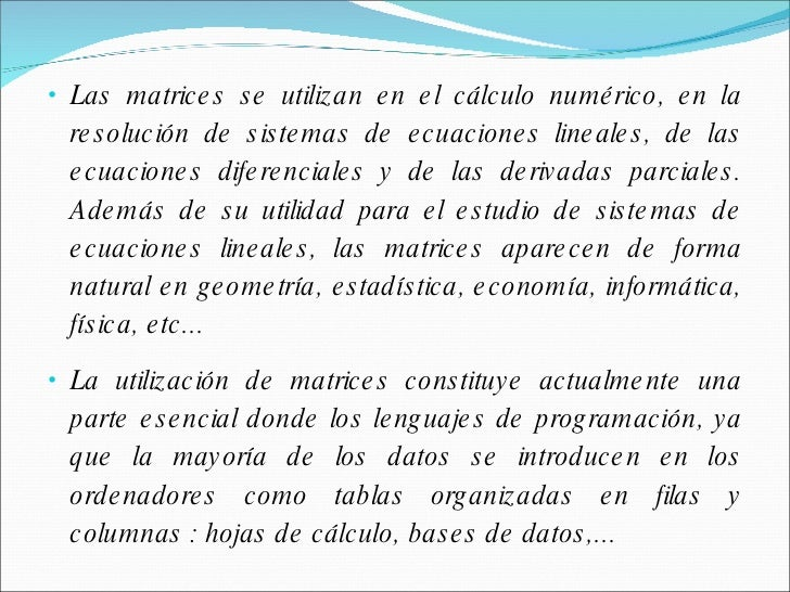 Concepto De Matriz, Tabla de verdad y logica matematicas
