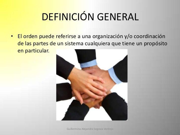 Concepto de orden for Origen y definicion de oficina