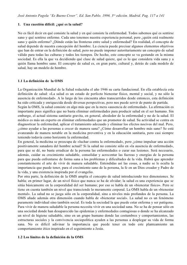 """José Antonio Pagola """"Es Bueno Creer"""". Ed. San Pablo. 1996. 3ra edición. Madrid. Pag. 117 a 141  1. Una cuestión difícil: ¿..."""
