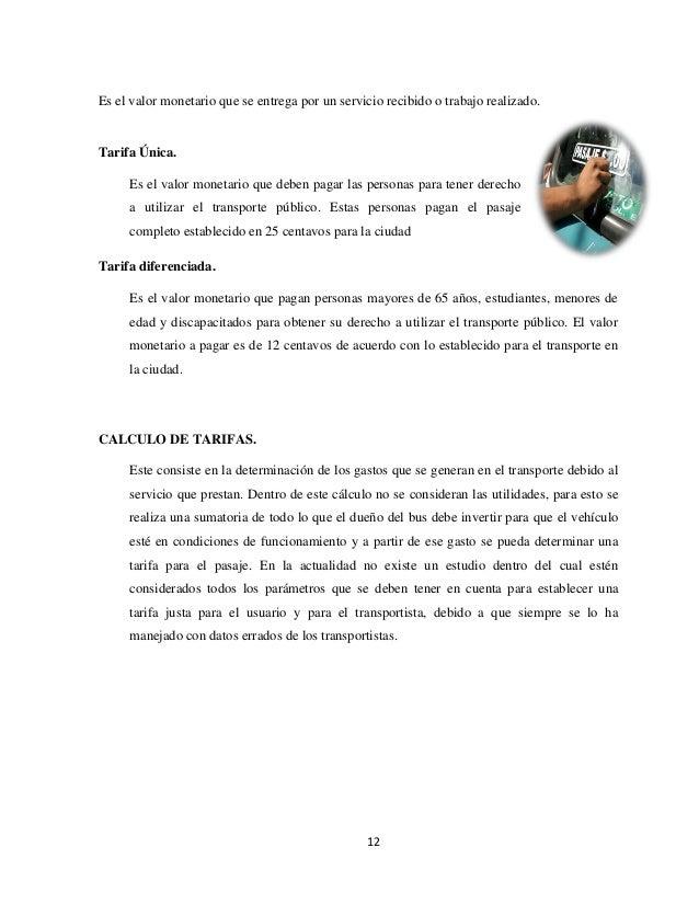 COSTOS DEL TRANSPORTE - photo#10