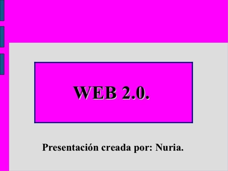 Presentación creada por: Nuria.   WEB 2.0.