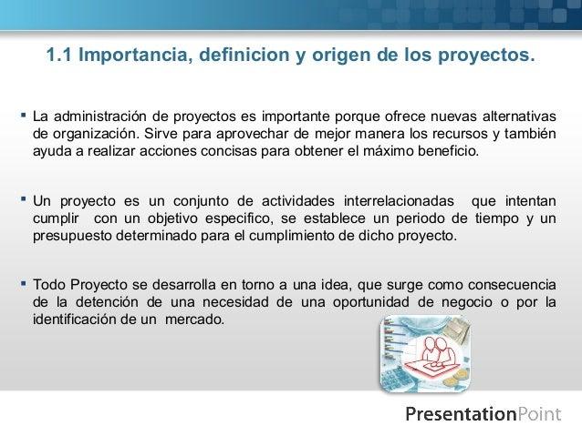 Concepto e importancia de los proyectos for Importancia de la oficina