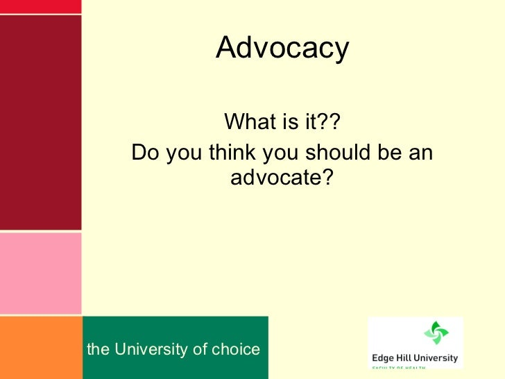 The concept of advocacy