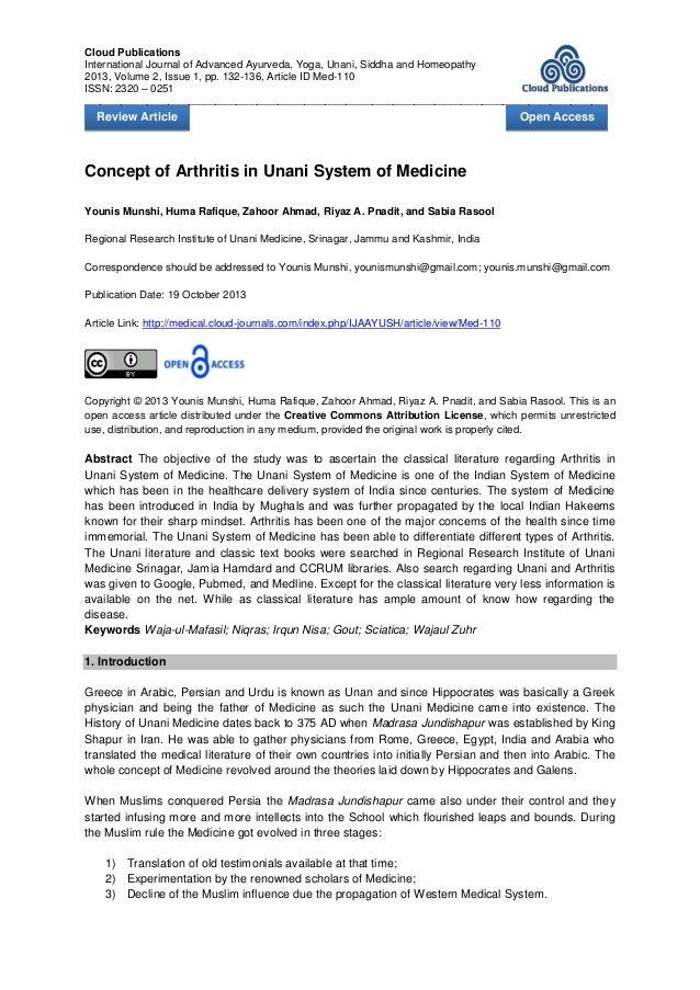 Cloud Publications International Journal of Advanced Ayurveda, Yoga, Unani, Siddha and Homeopathy 2013, Volume 2, Issue 1,...