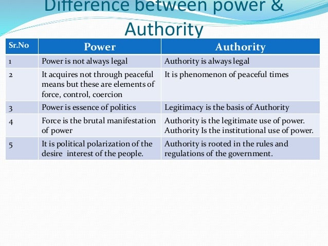 power authority and legitimacy