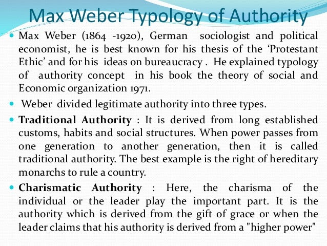 Weber and types of domination — pic 11