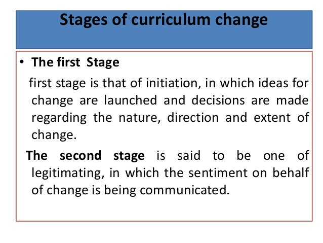 curriculum change Curriculum change (1) - download as pdf file (pdf), text file (txt) or read online.