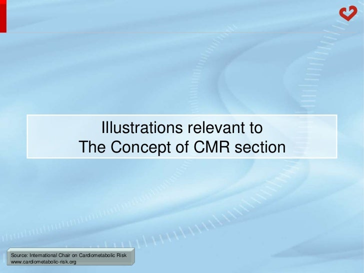 Illustrations relevant to                             The Concept of CMR sectionSource: International Chair on Cardiometab...