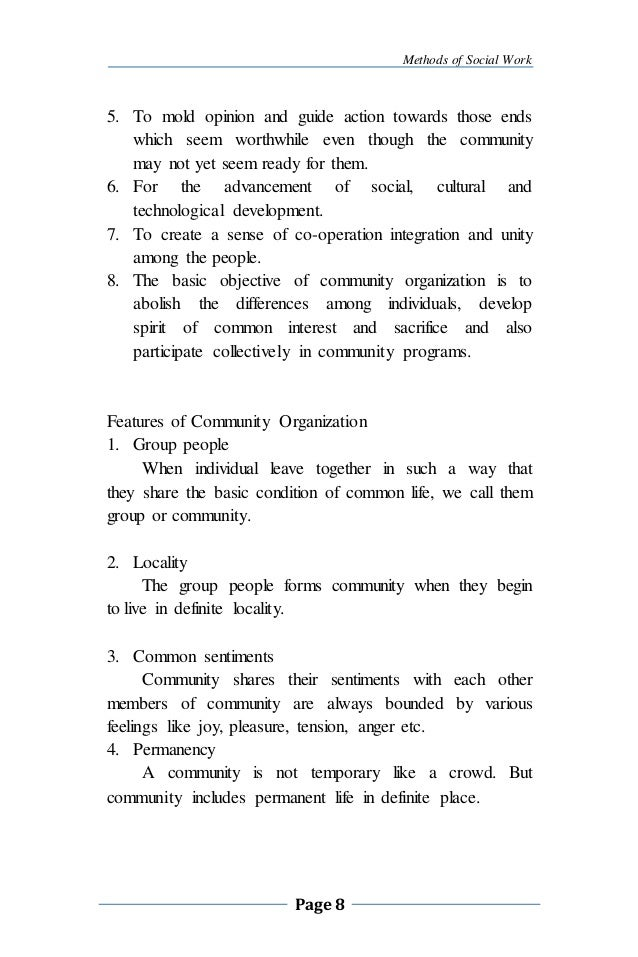 Concept Of Community Work