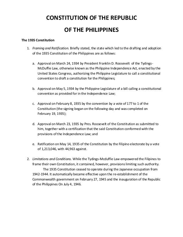 Concept of Philippine Constitution