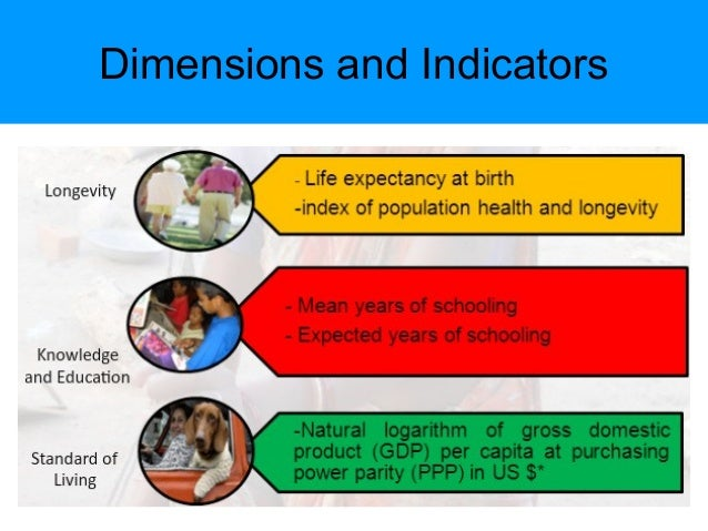 Human development index basic dimensions of