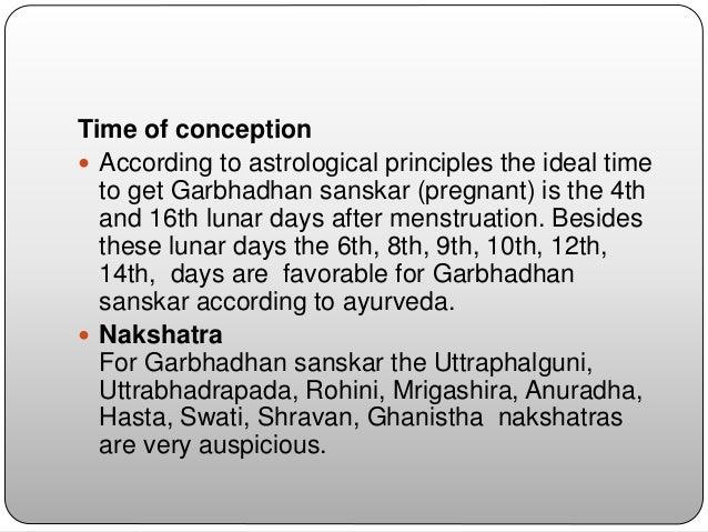 Concept of garbhadhan and garbha
