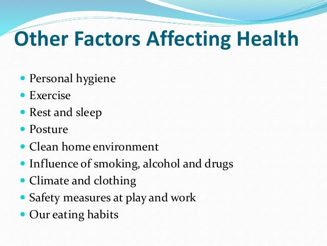 factors which are affecting health Five factors can affect marketplace plan prices: location, age, family size, tobacco  use, and plan category.
