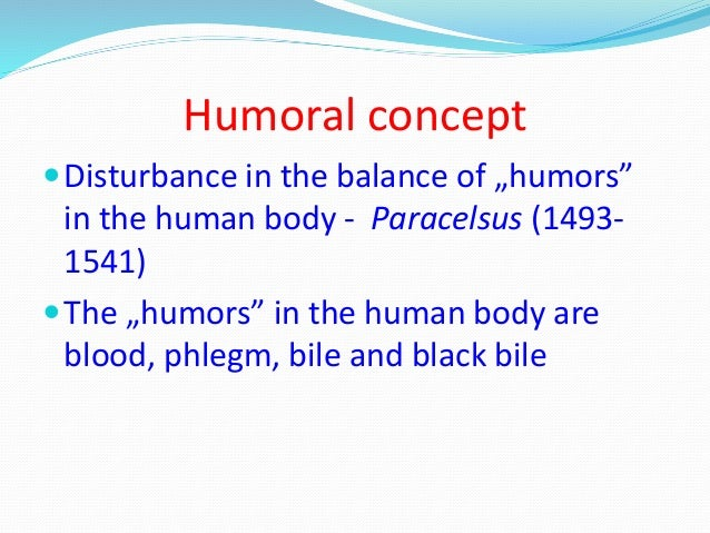 the humoral concept of disease