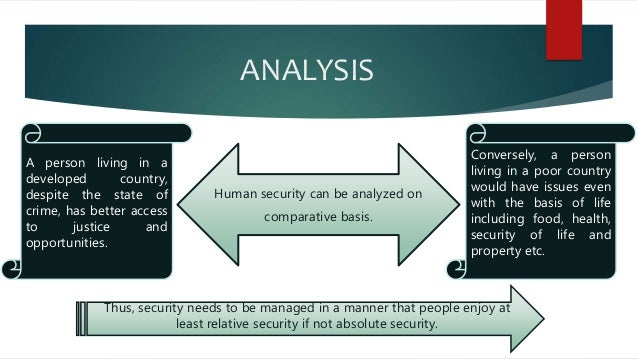the concept of human security Un approach to human security the undp human development report of 1994 introduces the concept of human security, which focuses on the people (undp 1994: 22) the same document points out that the term 'security' has.