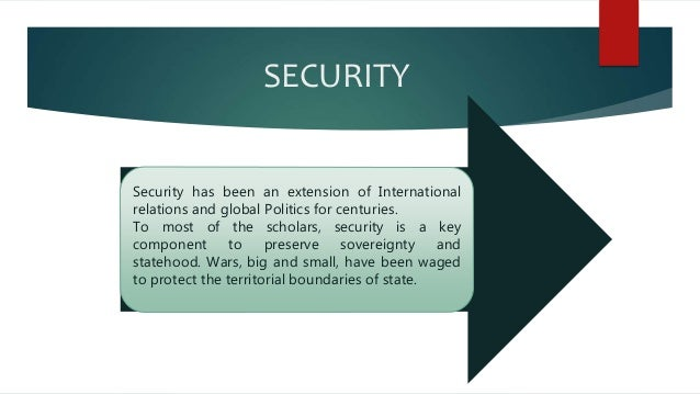 the concept of human security Security more recently political theorists tried to develop a concept of human  security based on the concept of human development and human.