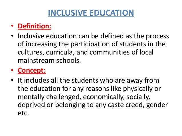 essay on inclusion of special education students Should all students with special educational needs the factors related to the education and inclusion of students with sen, including the curriculum.