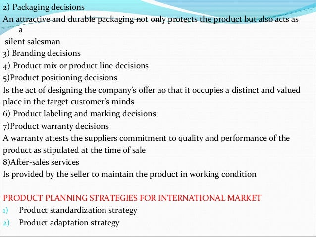 the importance of standardization in international marketing The theory of standardization versus differentiation in international marketing  goes  this makes it important to clarify the focus of this study.